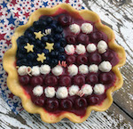 American Flag Pie w/Whipped Cream